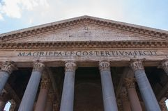 Pantheon in Rome. Royalty Free Stock Images