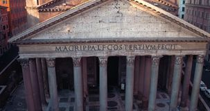 Pantheon in Rome stock video footage