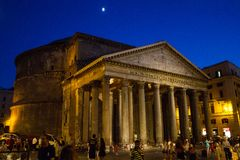 Pantheon, Rome, Italië stock afbeelding