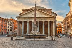 Pantheon in Rome, Italië stock foto