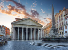 Pantheon. Rome. Italië. Stock Afbeeldingen