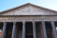 Pantheon, Rome Italy. An ancient monument Pantheon in Rome Italy Royalty Free Stock Photos