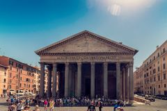 Pantheon in Rome Stock Photography