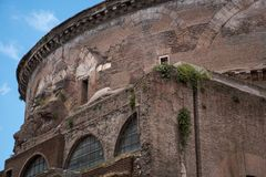 Pantheon in Rome - Italy. A beautiful view of the Pantheon in Rome in Italy Stock Images