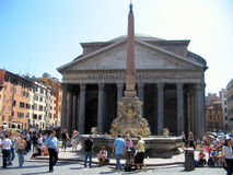 Pantheon, Rome, Italy. The Pantheon is a building in Rome, Italy, commissioned by Marcus Agrippa during the reign of Augustus as a temple to all the gods of Stock Image