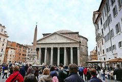 Pantheon in Rome, Italy. Famous Pantheon in Rome, Italy Royalty Free Stock Photos