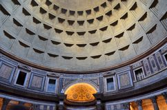 The Pantheon, Rome, Italy. Inside the Pantheon, Rome, Italy. interior shot of antique dome Stock Photography