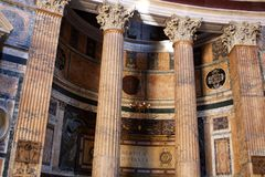Pantheon in Rome, Italy. Interior of the Pantheon in Rome, Italy stock photo