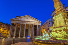 Pantheon - Rome - Italy. Night scene at Pantheon - Rome - Italy Royalty Free Stock Images