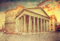 Pantheon. Rome. Italy. Royalty Free Stock Photos