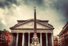 The Pantheon in Rome, Italy.  Vintage Stock Photo