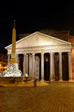 Pantheon, Rome at night. The Pantheon is a building in Rome, Italy, commissioned by Marcus Agrippa as a temple to all the gods of Ancient Rome, and rebuilt by Royalty Free Stock Image