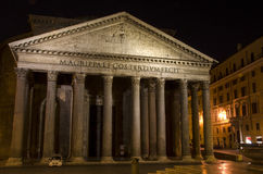 Pantheon, Rome at night Stock Images
