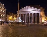Pantheon Rome at Night Royalty Free Stock Image