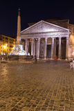 Pantheon Rome at Night Royalty Free Stock Photo