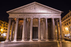 Pantheon Rome at Night Stock Photography
