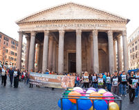 Pantheon in Rome Stock Photo