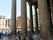Tourists outside of the Pantheon, Rome Royalty Free Stock Images