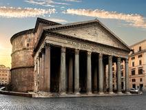 Pantheon in Rome at sunrise Royalty Free Stock Photos