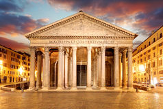 Pantheon - Rome at sunset Royalty Free Stock Images