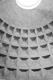 Pantheon roof details Rome. Interior architectural details of coffering on Pantheon ceiling, Rome, Italy stock photos