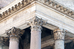 Pantheon roof in Rome Stock Photo