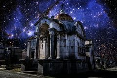 Pantheon and Small Magellanic Cloud (Elements of this image furn Royalty Free Stock Images