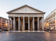 Pantheon am Sonnenaufgang, Rom, Italien Stockfotografie