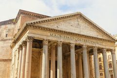 The Pantheon in the sunlight. Rome, Italy. royalty free stock image