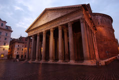 Pantheon at sunrise, Rome, Italy Royalty Free Stock Image
