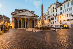 Pantheon at sunrise, Rome, Italy Stock Photos