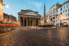 Pantheon at sunrise, Rome, Italy Royalty Free Stock Image