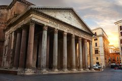 Pantheon at sunset Stock Photos