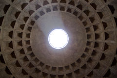 The pantheon. Symmetry of the pantheon in rome Stock Image