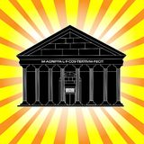 Pantheon Temple of the Gods in Rome stock illustration