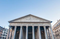 The Pantheon, a temple to all the gods of Rome in Italy Royalty Free Stock Images