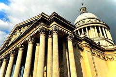 Pantheon Under Cloudy Skies Stock Images