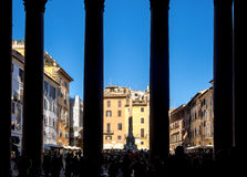 Pantheon view from inside out Royalty Free Stock Images