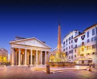 Pantheon view at night light. Rome, Italy Stock Photo