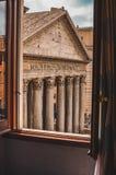 Pantheon volgende deur stock foto
