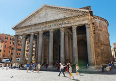 The Pantheon was commissioned by Marcus Agrippa as a temple to a Royalty Free Stock Photo