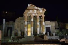 Pantheoncapitolium in Brescia royalty-vrije stock afbeeldingen