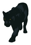 The panther. The black panther (vector illustration Stock Photos