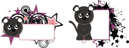 Panther baby cartoon copyspace6 Royalty Free Stock Photography