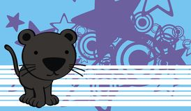 Panther baby cute cartoon background Stock Photography