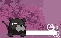Panther ball cartoon background Royalty Free Stock Photography