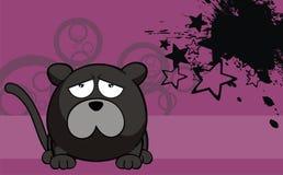 Panther ball cartoon background2 Stock Photos