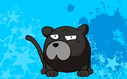 Panther ball cartoon background3 Royalty Free Stock Images