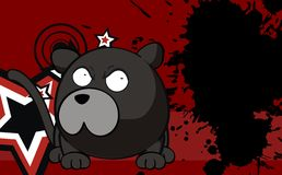 Panther ball cartoon background7 Stock Photography