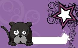 Panther ball cartoon background0 Stock Photo